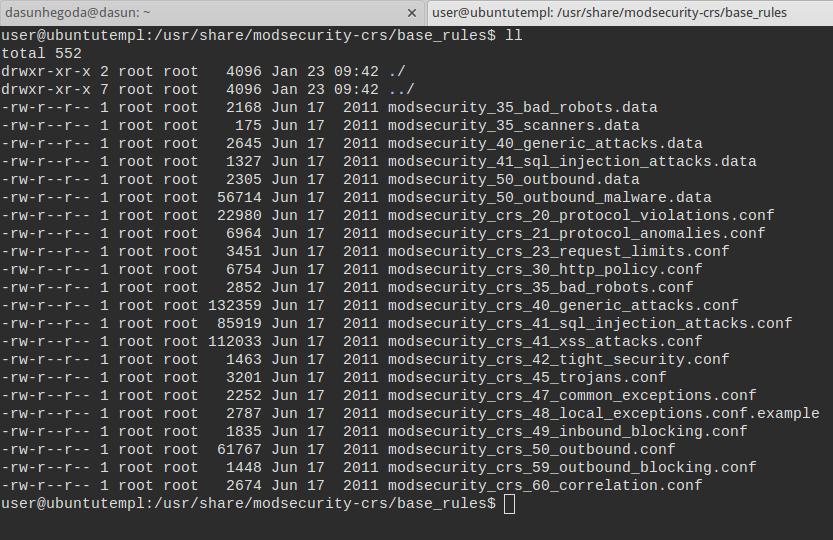 Apache mod_security